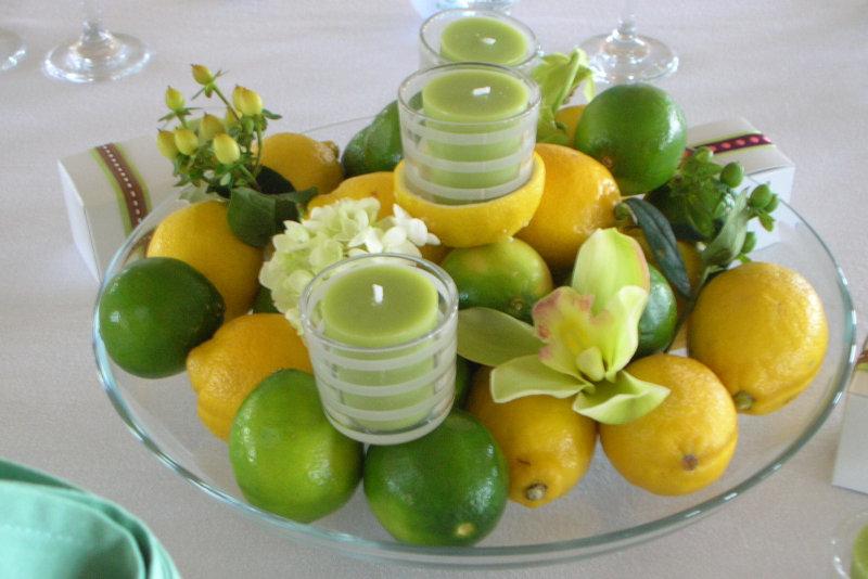 Table arrangement using citrus fruits